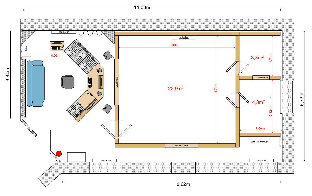 Plan de l'estúdio
